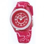 Adidas Kids - ADM2024 - Montre Enfant - Quartz Analogique - Bracelet Tissu Rose et Blanc