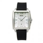 Hugo Boss - 1512440 - Boss Black - Montre Homme - Quartz Analogique - Cadran Argent - Bracelet Caoutchouc Noir