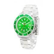 Ice Watch - CL.GN.U.P.09 - Classic Clear - Montre Mixte - Quartz Analogique - Cadran Vert - Bracelet Plastique Transparent - Mo