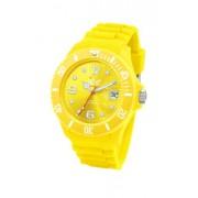 Ice Watch - SI.YW.U.S.09 - Montre Mixte - Quartz Analogique - Cadran Jaune - Bracelet Silicone Jaune - Moyen Modèle