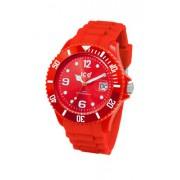 Ice Watch - SI.RD.B.S.09 - Montre Homme - Quartz Analogique - Cadran Rouge - Bracelet Silicone Rouge - Grand Modèle