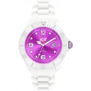 Ice Watch - SI.WV.B.S.10 - Montre Homme - Quartz Analogique - Cadran Violet - Bracelet Silicone Blanc - Grand Modèle