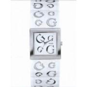 Guess - W10102L2 - Montre Femme - Quartz Analogique - Manchette - Bracelet en Résine Blanc Rigide