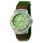 Kahuna - K1C-1007G - Montre Homme - Analogique - Bracelet Tissu Vert