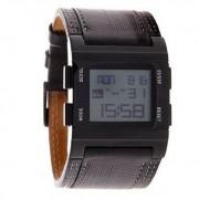 Quiksilver - M029AL-ABK - Montre Homme - Quartz Digital - Chronomètre - Rétro-éclairage - Alarme - Bracelet
