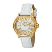 Cerruti - CT101072S03 - Montre Femme - Quartz - Analogique - Bracelet Cuir Blanc