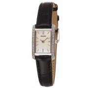 Accurist - LS386P - Montre Femme - Quartz Analogique - Bracelet Cuir Noir